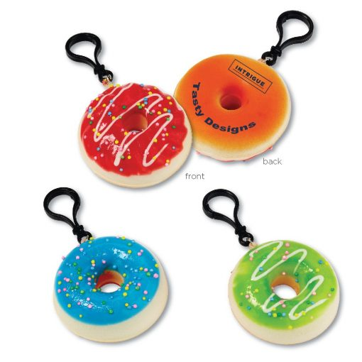 """2-3/4"""" Squishy Donut Clip-Ons"""