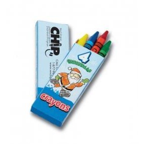 4 Count Christmas Seasons Greetings Crayon Pack