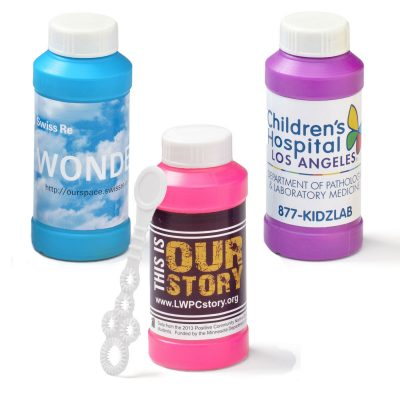 4 Oz. Bubbles with Full-Color Digital Label