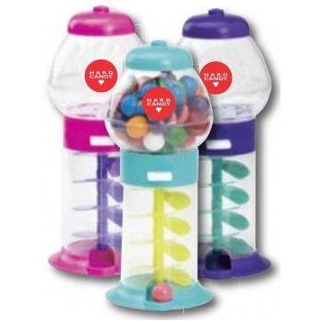 "7 1/4"" Assorted Color Mini Gumball Machine"