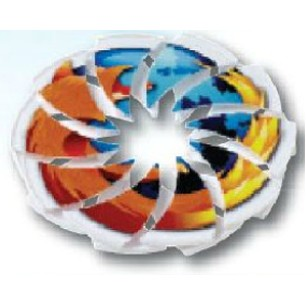 All-White Incredible Expanding Flying Disc with Digital Printing