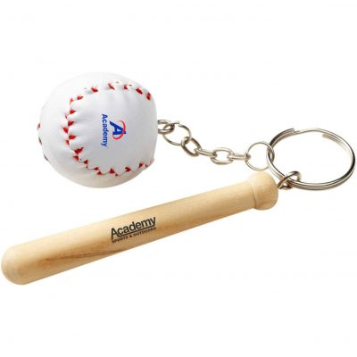 Baseball Bat & Ball Keychain
