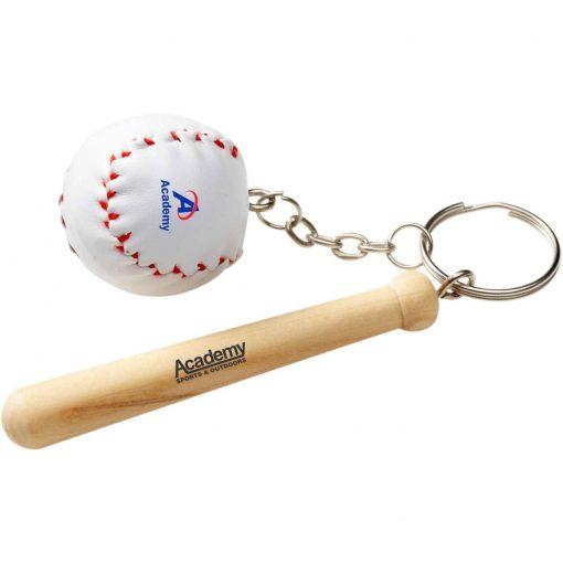 Baseball Bat & Ball Keychain