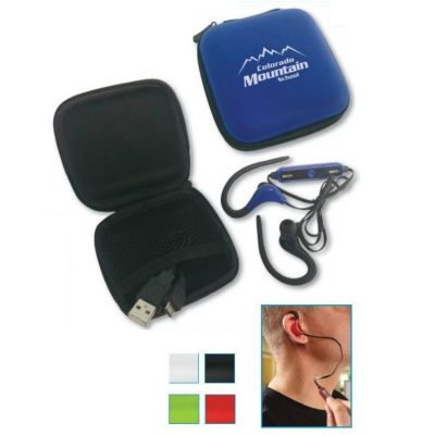 Bluetooth Headset in Zippered Case