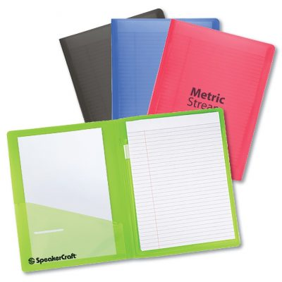 Color-Pro Letter Size Folder with Inner Pocket and Lined Notebook