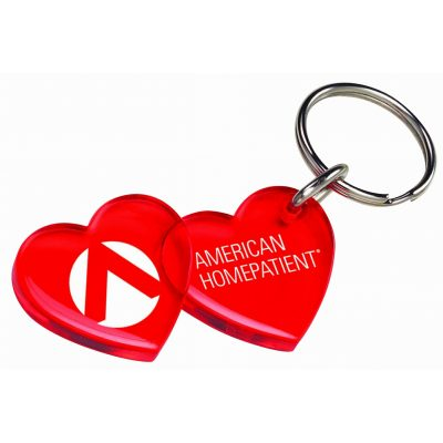 Double Heart Keychain