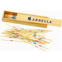 Pick-Up Sticks in Wooden Box
