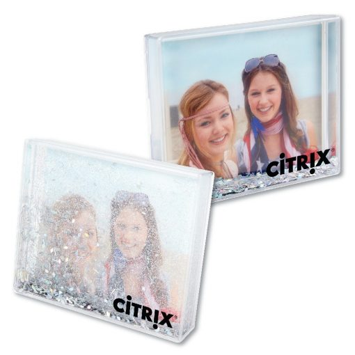 Silver Glitter Desktop Photo Frame