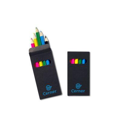 Six-Color Wooden Pencil Set in Black Box