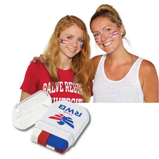 USA Flag Fanbrush Face Paint