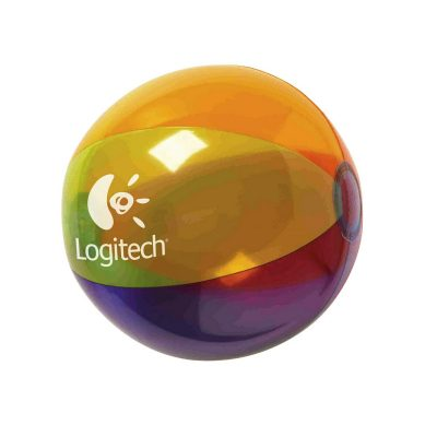 "16"" Translucent Multi-Color Beach Ball"