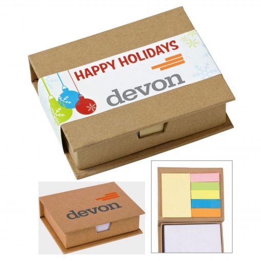 Eco-Recycled Memo Case w/ Sticky Notes & Flags