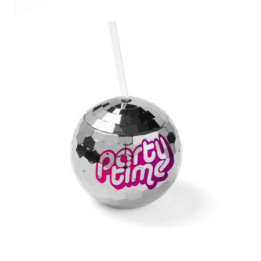 Disco Ball Tumbler with Straw