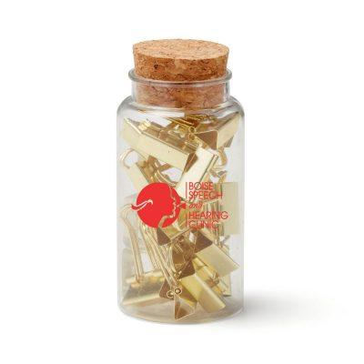 Gold Binder Clips Jar