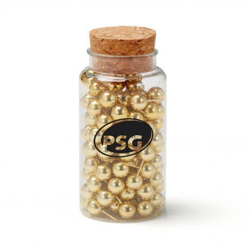 Gold Push Pin Jar