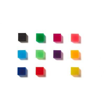 Square Neon Translucent Erasers
