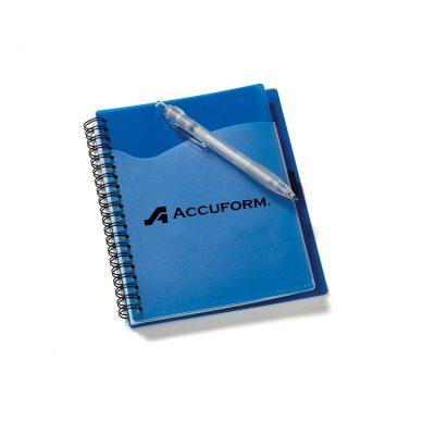 """5 3/4""""x7 1/8"""" Wave Spiral Notebook with Front Pocket"""