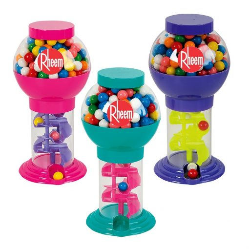 Assorted Color Spiral Bubble Gum Machine