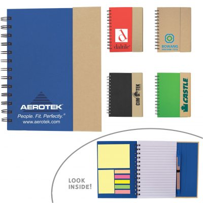 Eco-Recycled Journal w/Sticky Notes & Flags