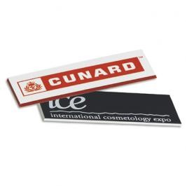 "Square Corner Badge (3""x1"")"