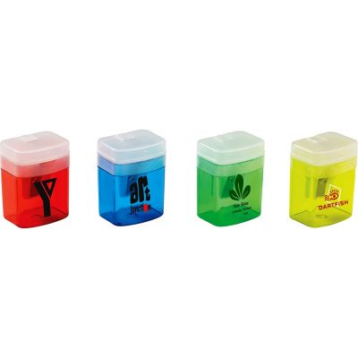 Translucent Pencil Sharpener w/Flip Top Lid