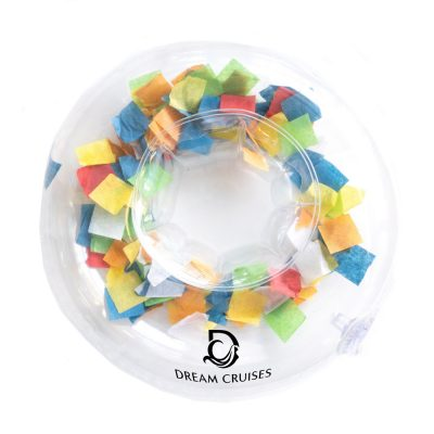 Inflatable Confetti Beverage Coaster