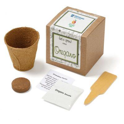 Oregano Planter in Kraft Gift Box w/Seeds