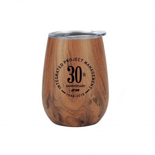 Stainless Steel Lined Vacuum Wood Wine Tumbler Cup
